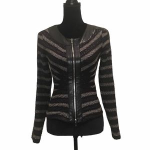 Joseph Ribkoff zipper front textured jacket